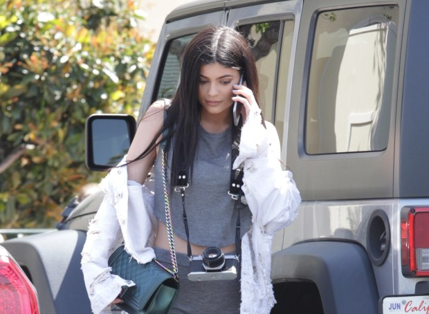Kylie Jenner shops in Calabasas, California Featuring: Kylie Jenner Where: Los Angeles, California, United States When: 24 Apr 2016 Credit: WENN.com
