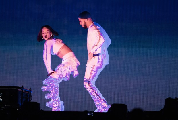 Brit Awards Show at the 02 Arena in London. Featuring: Rihanna, Drake Where: London, United Kingdom When: 24 Feb 2016 Credit: WENN.com